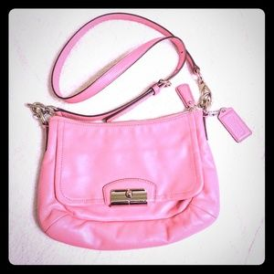 Coach Pink Leather Crossbody Purse NWOT
